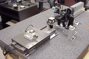 Displacement measuring interferometer setup